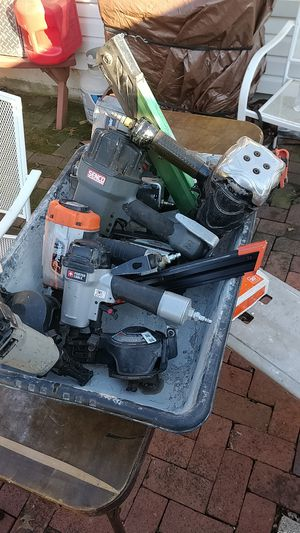 Bucket of nail guns for Sale in Akron, OH