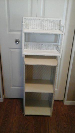 Two Wicker Bathroom Storage Shelves 2/$15 for Sale in Aurora, IL