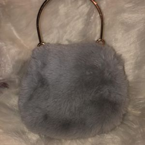 Grey Fur Handbag for Sale in Newport News, VA