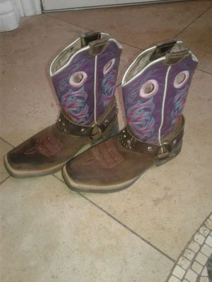 Girls size 2 leather western texas boots for Sale in Scottsdale, AZ