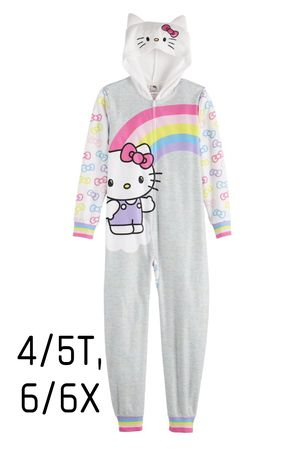 BRAND NEW WITH TAGS Girl's Hello Kitty Fleece Zip-Up Onesie Pajama for Sale in Fontana, CA