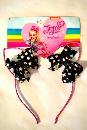 JoJo Siwa Glitter Cat Ear with Mini Bows Headband for Sale in Houston, TX