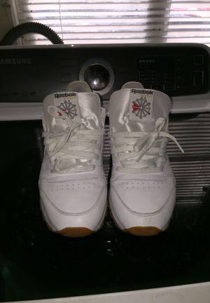 Reebok classics white shoe tan souls for Sale in Tampa, FL