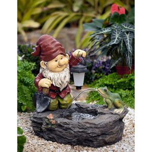 "Gnome Fountain with Solar Light- 20.0"" W x 11.8"" D x 18.1"" H for Sale in Virginia Beach, VA"