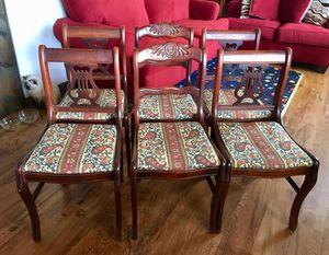 6 Duncan Phyfe Style Mahogany Chairs for Sale in Lexington, VA