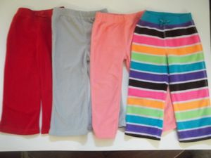 4 Pairs of Girls Size 24M Warm Fleece Winter Pants for Sale in Tacoma, WA