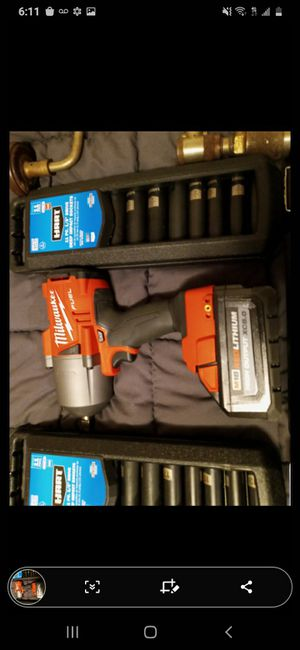 "Milwaukee m18 1/2"" torque wrench impact drill !!!TOOL ONLY!!! have 5.0 , 6.0, and 8.0 batterys for extra $$$ also sockets for Sale in West Linn, OR"