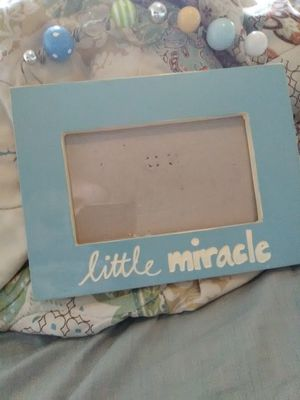 """Baby's """"little miracle"""" picture frame for Sale in Norfolk, VA"""