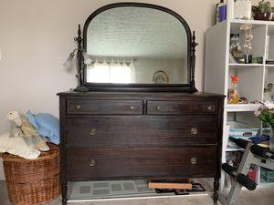 Antique wood Vanity and dresser set for Sale in Etna, OH