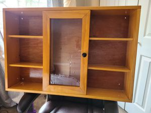 Beautiful solid wood/curio cabinet for Sale in Sicklerville, NJ