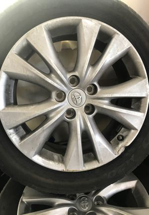 I have a set of rims for Toyota RAV4 2015 1 rim are damage easy to fix , all tires has a tons sensors , y pay $260 for this sensor , asking $200 obo for Sale in West Point, UT