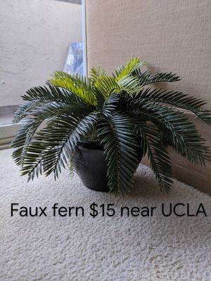 """Fake fern house plant, 20"""" wide x 12"""" tall for Sale in Los Angeles, CA"""