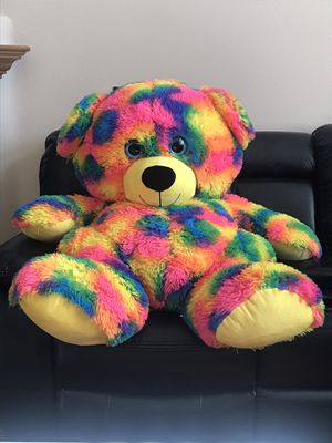 Big colorful stuffed animal bear 🐻 for Sale in Chino Hills, CA