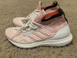 Adidas UltraBoost All Terrain Mens Size 7 (Womens Sz 9.5) 'Candycane' White/Red B37699 Brand New! No Box. for Sale in Kaysville, UT