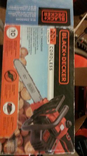 Cordless 20V B&D chainsaw for Sale in Salt Lake City, UT
