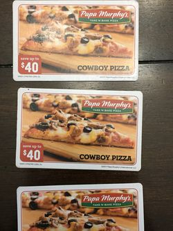 PAPA MURPHY'S PIZZA COUPONS! SAVE UP TO $40 for Sale in Woodburn,  OR