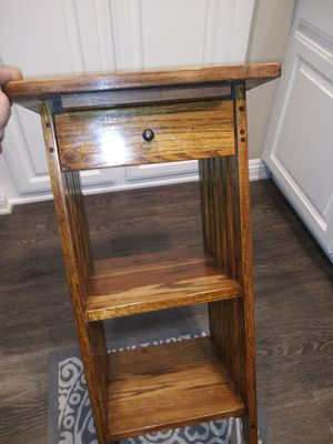 Beautiful condition small corner stand with slide out drawer & shelf for Sale in Rancho Santa Margarita, CA