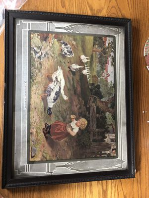Antique Print Framed Picture A Thousand Terrors for Sale in North Royalton, OH