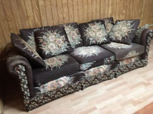 Pretty long couch in good shape .just don't need it anymore . $75.00 you pick up and load. Husband has 7 broken and cracked ribs that are trying to for Sale in Rockledge, GA
