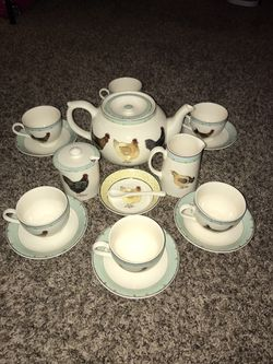 Very nice tea set high grove hens dishes for Sale in Columbus,  OH