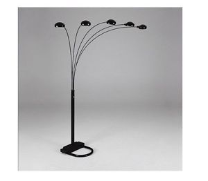 Black Spider Arm Arch Floor Lamp w/adjustable Shade for Sale in Austin, TX
