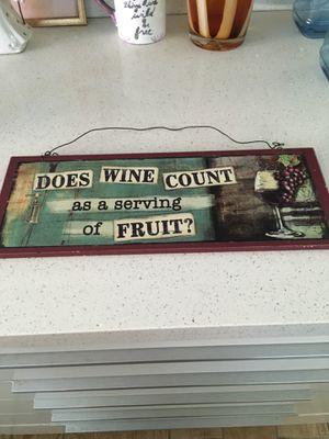 Kitchen wine decor $2 firm price for Sale in San Diego, CA