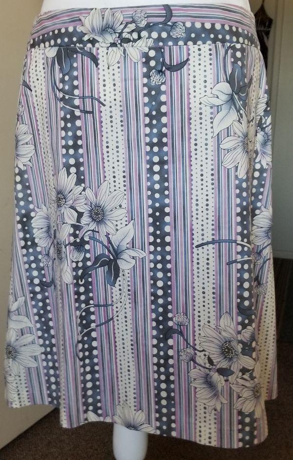 Purple print skirt