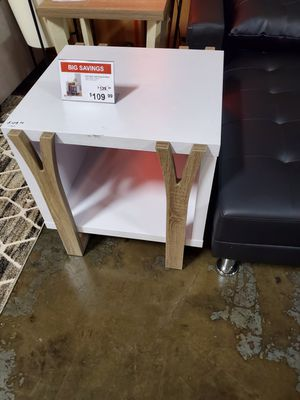 Pear End Table, White and Dark Taupe for Sale in Fountain Valley, CA