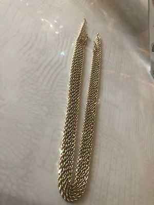 Solid gold rope necklaces for Sale in Falls Church, VA