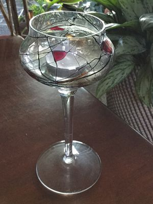 Beautiful Partylite Candle Holder, Mosaic Glass, 7 3/4 Tall, Very Beautiful When Lit/ Willing To Meet for Sale in Boring, OR