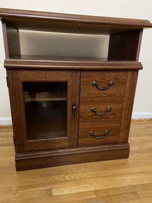 Tv table with Glass Door and Shelves for Sale in Alexandria, VA