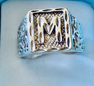 "Mens Sterling Monogrammed ""M"" Ring! Sz 12! for Sale in Syracuse, NY"