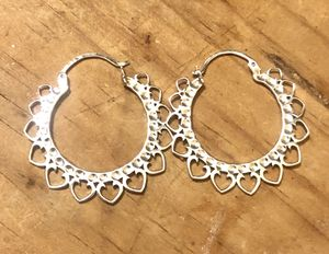 Beautiful!!! Sterling silver boho hoop earrings for Sale in Glendale, AZ