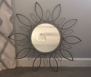 "Decorative mirror, metal, approximately 24"" diameter. Excellent condition. for Sale in Bloomington, IL"