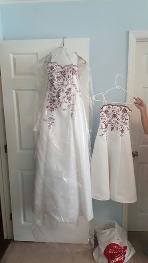 Wedding dress and flower girl dress for Sale in Nashville, TN