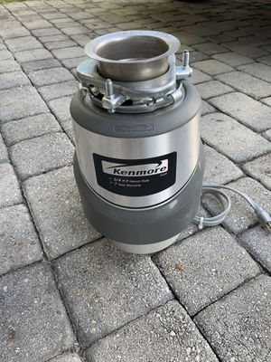 Kenmore garbage disposal 3/4 h.p heavy duty for Sale in Port St. Lucie, FL