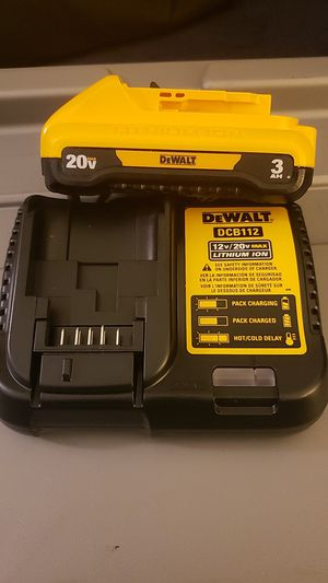 DEWALT 20-Volt MAX Lithium-Ion Battery Pack 3.0Ah with Charger for Sale in Riverside, CA