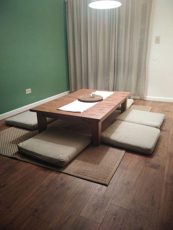 Chabudai dinning table set (Japanese inspired)