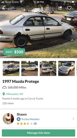1997 Mazda Protege for Sale in Milwaukee, WI