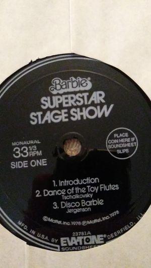 Barbie's Superstar Stage Show '78 Flexi-disk for Sale in Glendale, AZ
