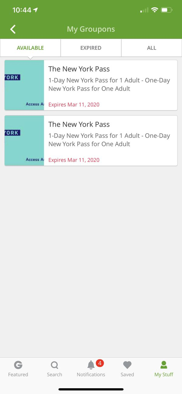 Two 1-Day New York Passes for Adults