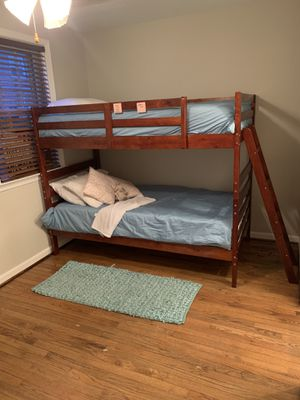 Bunk bed set with mattresses and bedding for Sale in Alexandria, VA