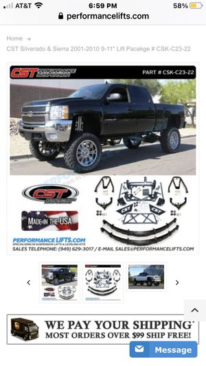 "$1500 FIRM!! CST 9-11"" lift kit. Fits 2001-2010 Chevy/gmc 1500hd-2500hd-3500hd for Sale in Everett, WA"