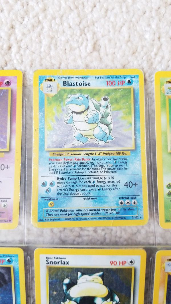 1995 pokemon Holographic Trading cards(28)