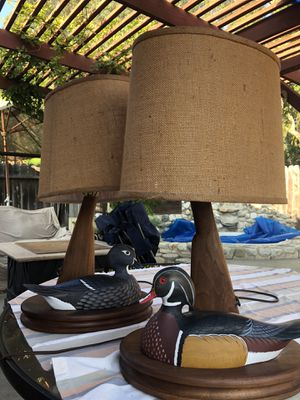 Vintage Duck Hunting Lodge lamps for Sale in Huntington Beach, CA
