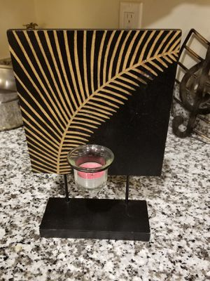 Tropical leaf candle holder for Sale in Sandy, UT