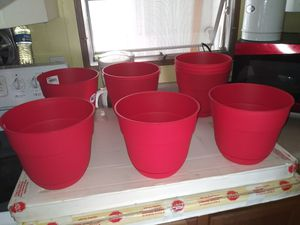 Red plants pots(10 pc) for Sale in Lakeland, FL