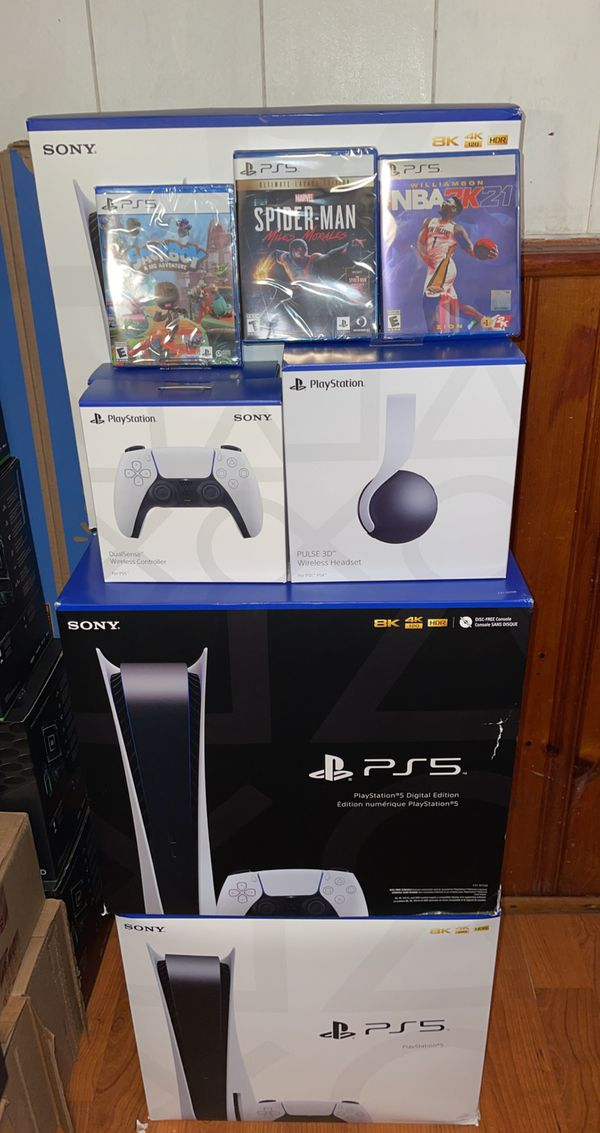 Brand New PlayStation 5 Disk / Disc Version In Hand And Games, Controller, -and Headset