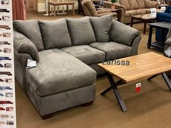 SAME DAY DELIVERY 🔴Cobblestone Sofa Chaise 🔴Sofa,Living,Couch,Small Sectional for Sale in Houston,  TX