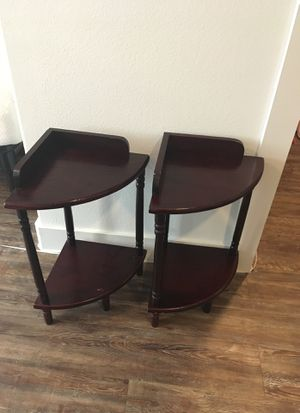 2 end table side table corner shelf small for Sale in McKinney, TX